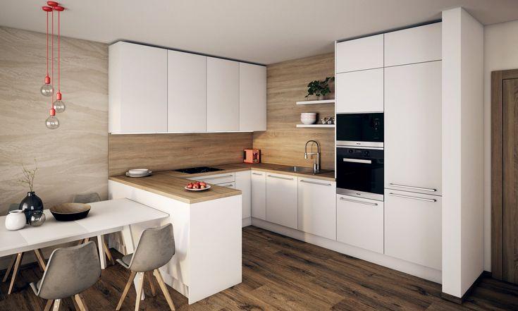 Praktická, ergonomická kuchyňa do tvaru U