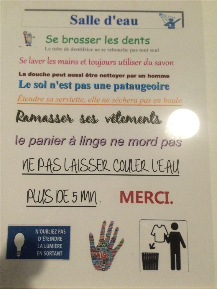 Finest rglements pour notre salle de bain revus et corrigs la faute du orthographe with - Salle de bains orthographe ...