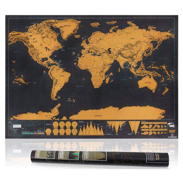 XXL Weltkarte zum Rubbeln - Für Globetrotter