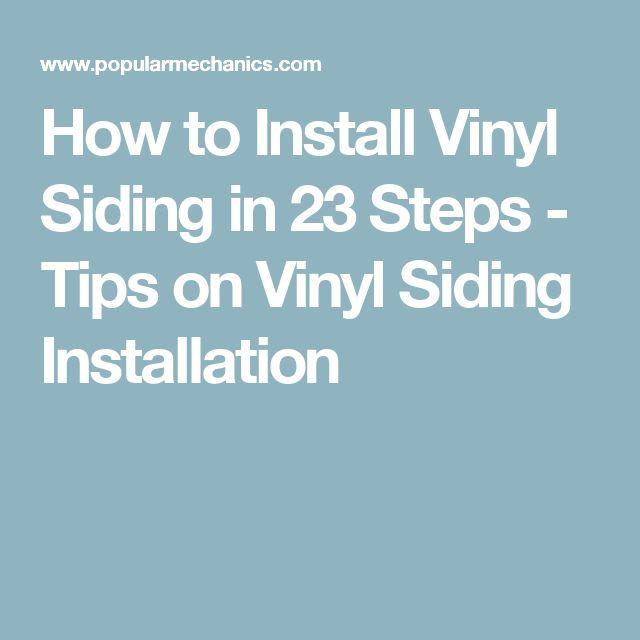How to Install Vinyl Siding in 23 Steps - Tips on Vinyl Siding Installation