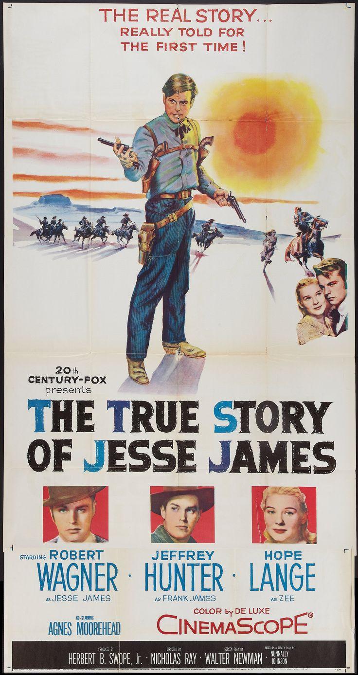 The true story of jesse james 1957 stars robert wagner jeffrey hunter