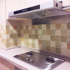 韩国卫生间瓷砖贴灶台厨房防油烟贴纸耐高温浴室防水贴马赛克墙贴
