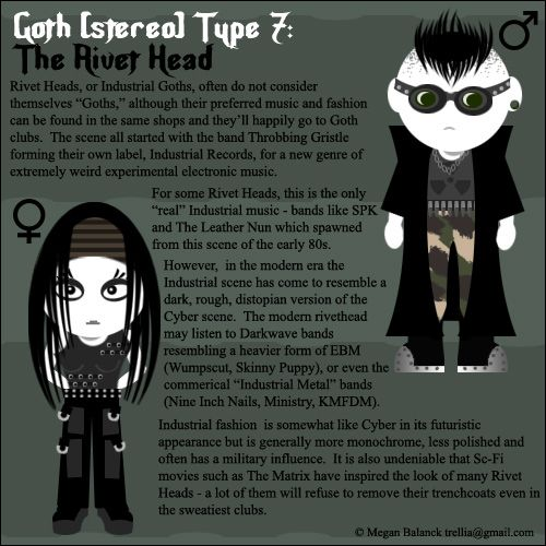 Rivethead. What kind of goth are you? http://www.blackwaterfall.com/index.php