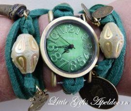 Wikkel Horloge leuk om te kopen of op een workshop zelf te maken!