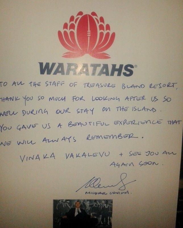 Thank you Michael Cheika coach of the WARATAHS for these wonderful words!