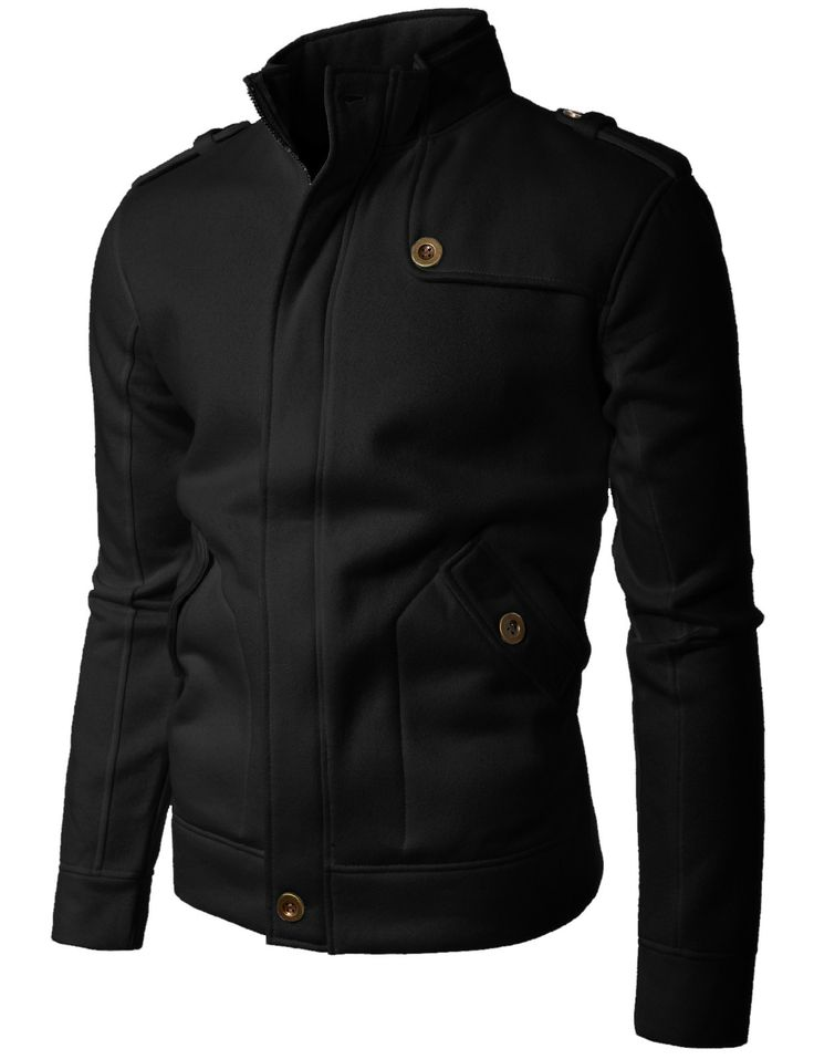 mens style mens fashion mens clothing mens jacket long sleeve  Shoulder strap Zipup jacket (STRAP)