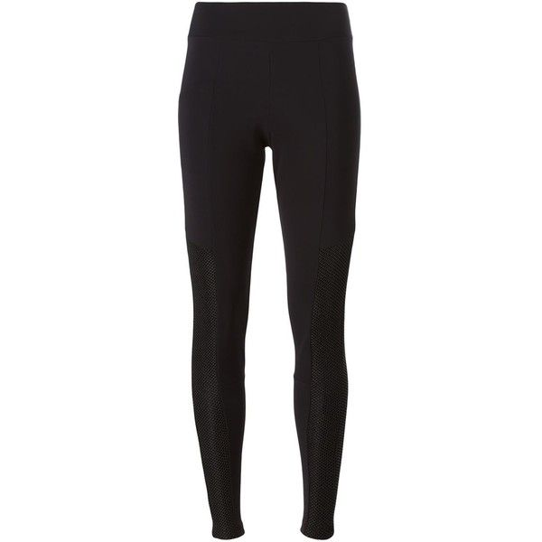 Lost & Found Ria Dunn - panelled leggings - women -... ($179) ❤ liked on Polyvore featuring pants, leggings, black, mesh-panel leggings, lycra leggings, spandex leggings, lycra pants and panel pants