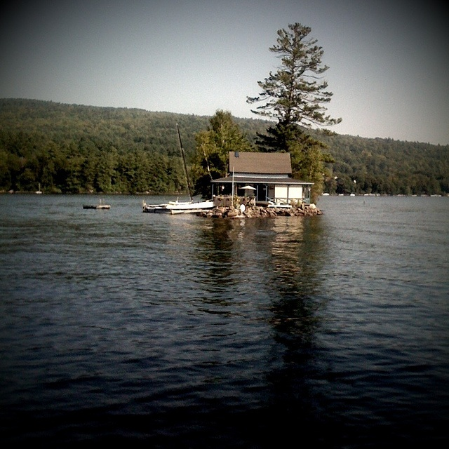 Newfound lake nh this house is in the bay across from our summer
