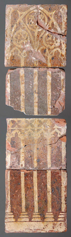 Medieval floor tiles from Neath Abbey