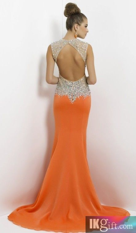 Really. blue and orange prom dresses