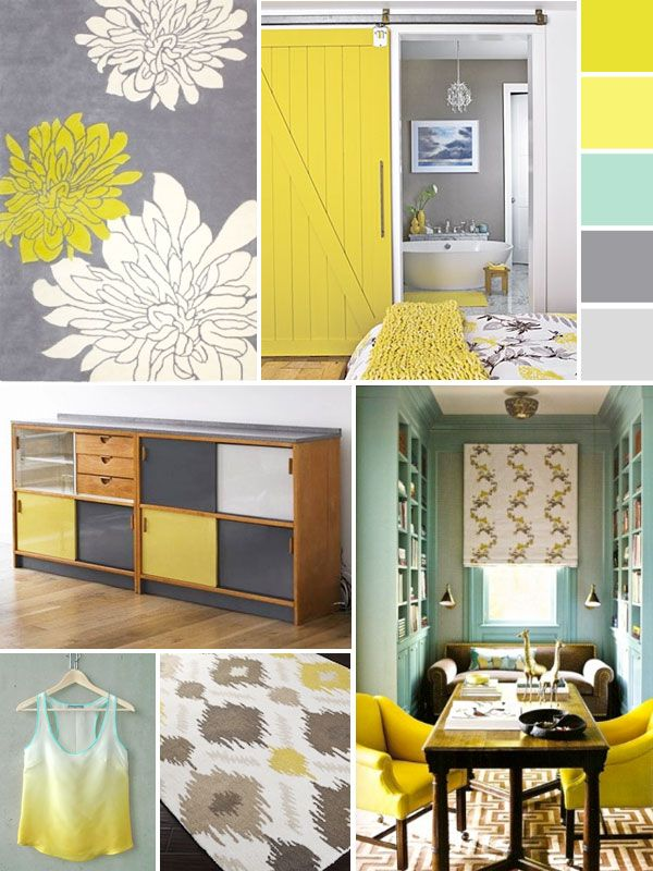41 best Grey, yellow, mint living room images on Pinterest Gray - yellow and grey living room
