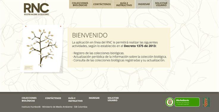 Aplicativo del Registro Nacional de Colecciones