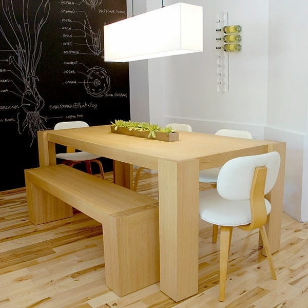 Gus Modern Chunk Dining Table Amp Bench Natural World