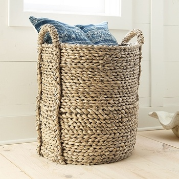 Large Woven Seagrass Basket in November 2012 from Wisteria on shop.CatalogSpree.com, my personal digital mall.