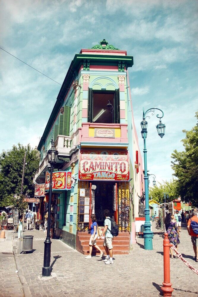 Buenos Aires, Argentina // La Boca is the oldest most colourful district in Buenos Aires and a popular destination for tourists.