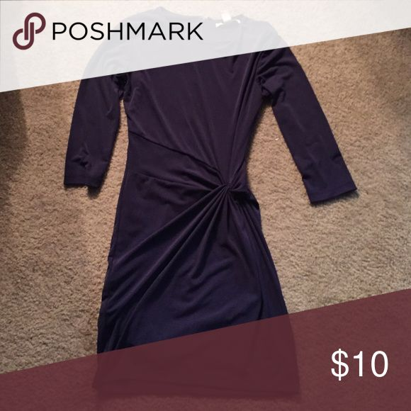 Forever 21 mini dress Worn once at a party. Dark purple, short, gathered dress. Very flattering! It's also quarter sleeved. Picture does not do it justice, but I don't have a full length mirror to show :( Forever 21 Dresses Mini