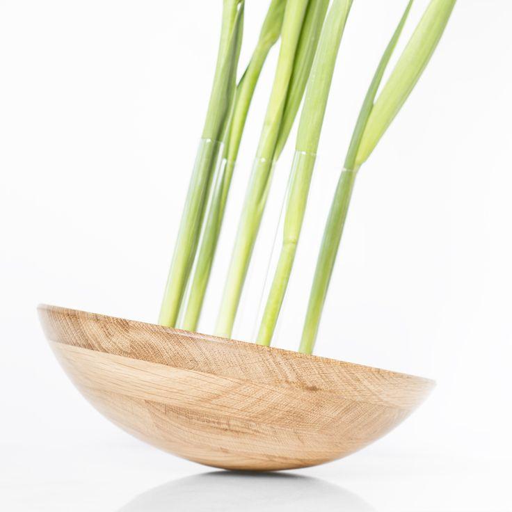 Forêt Étrange_solid oak flower vase_wood design | by Kaptura de Aer.  Photo (c) Alexandru Petrea
