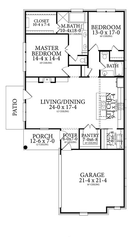 House Plan 1842 Larry James Designs In 2020 House Plans How To Plan 1 Story House