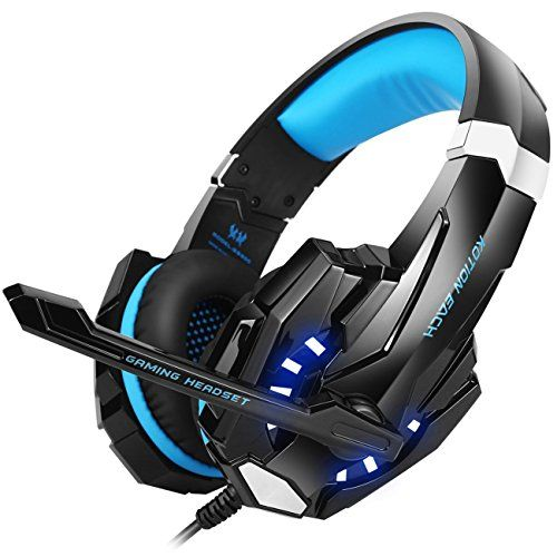 Discounted BENGOO G9000 Stereo Gaming Headset for PS4, PC, Xbox One Controller, Noise Cancelling Over Ear Headphones with Mic, LED Light, Bass Surround, Soft Memory Earmuffs for Laptop Mac Nintendo Switch Games