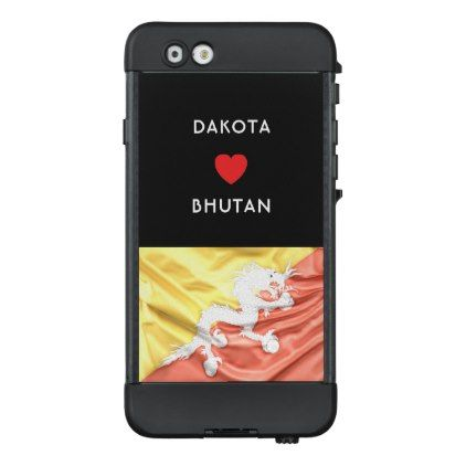 #Custom I Heart Flag of Bhutan LifeProof NÜÜD iPhone 6 Case - #travel #trip #journey #tour #voyage #vacationtrip #vaction #traveling #travelling #gifts #giftideas #idea