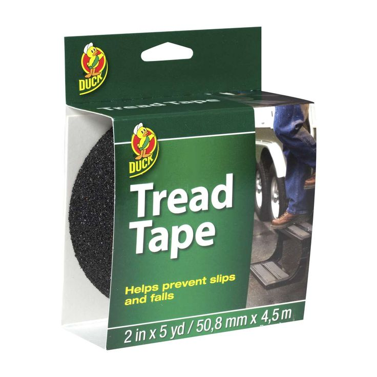 Duck Brand Black Tread Tape Featuring An All Weather Adhesive This No