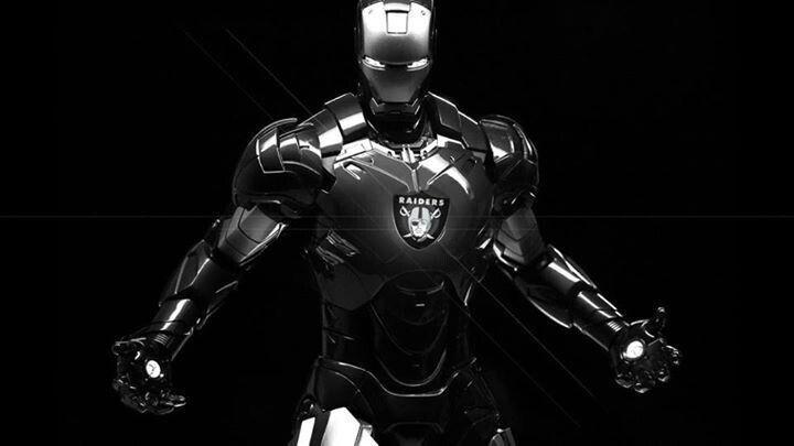 I am Iron Man. Go Raiders!!!