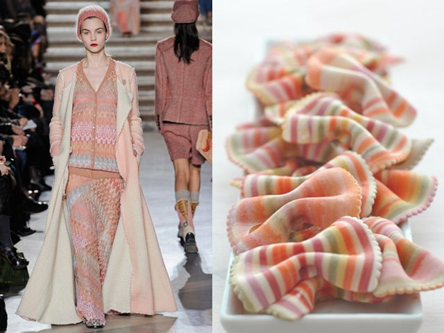 Missoni fw 2011-12 / Multicolored pasta