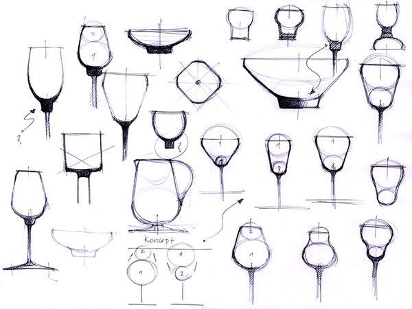 HRUSKA GLASS SET - DEVELOPMENT on Industrial Design Served