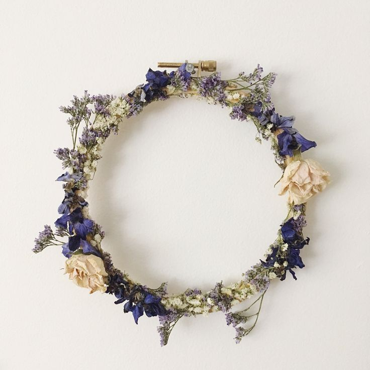 dried floral embroidery wreaths