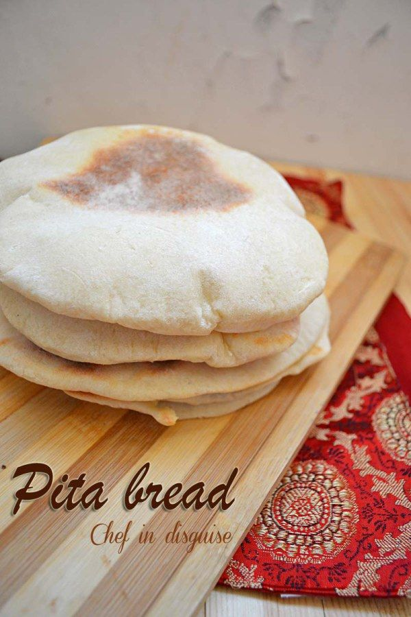 Home made pita bread with step by step instructions
