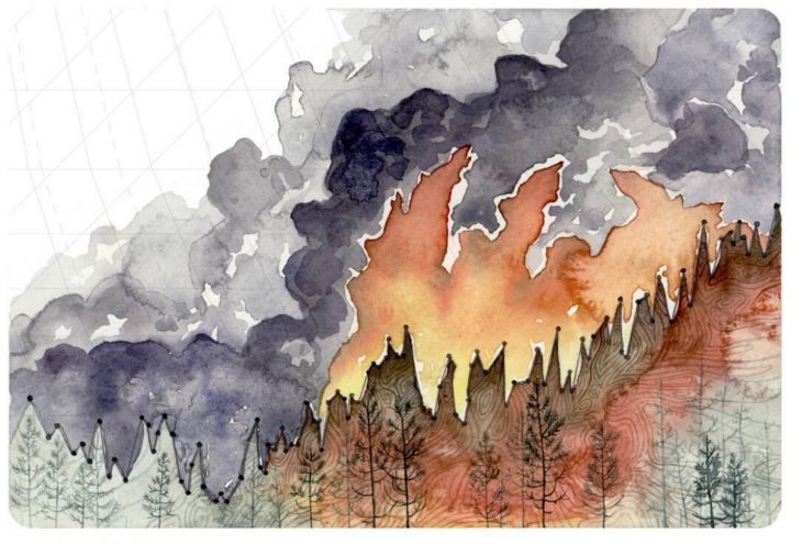 These Paintings Turn Climate Data Into Art - http://blog.clairepeetz.com/these-paintings-turn-climate-data-into-art/