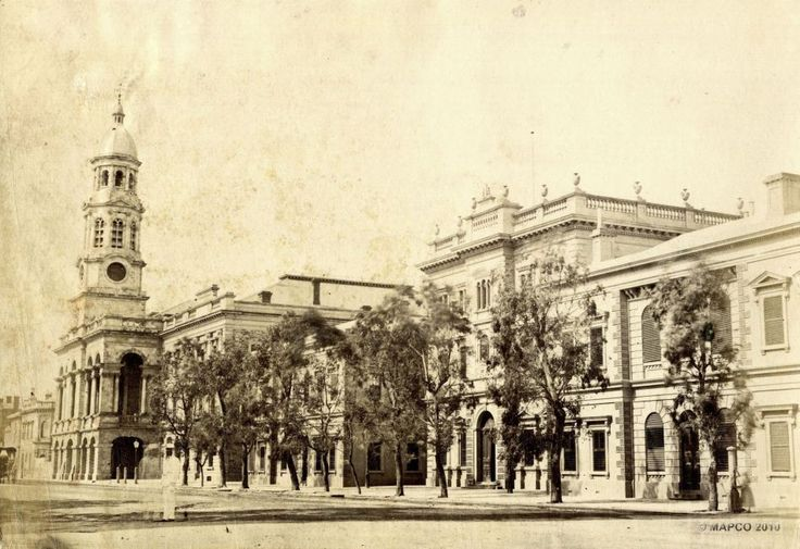 King William Street, Adelaide, South Australia, c1875