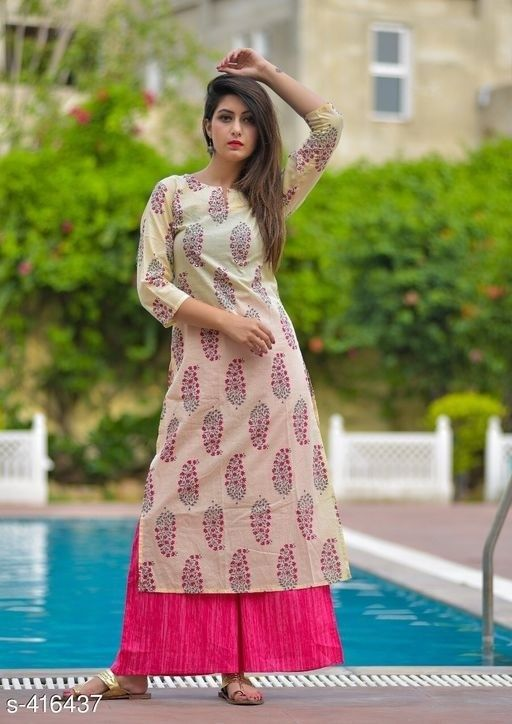 c69b475118 Summer Cotton Kurti Palazzo Set Indian Amazing Salwar Kameez Gowns Gown  Suit #fashion #clothing #shoes #accessories #worldtraditionalclothing  #indiapakistan ...