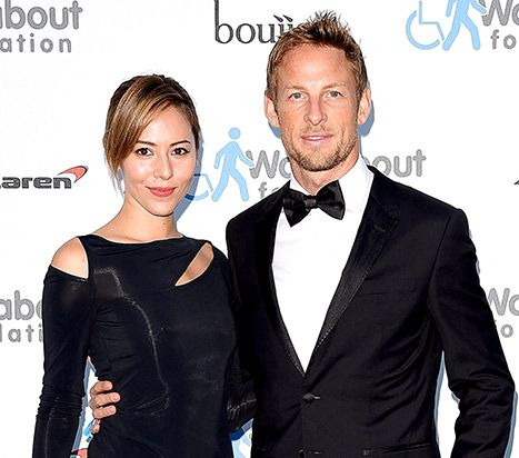 F1 Driver Jenson Button and Wife Jessica Gassed and Robbed - Us Weekly