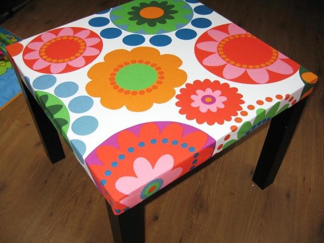 Pimp my table!! Hoe je van een versleten ikea lack-tafeltje een chique meubelstuk kan maken...
