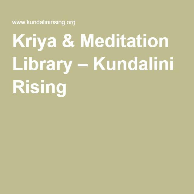 65 best yoga images on pinterest healthy dinners around the kriya meditation library kundalini rising fandeluxe Choice Image