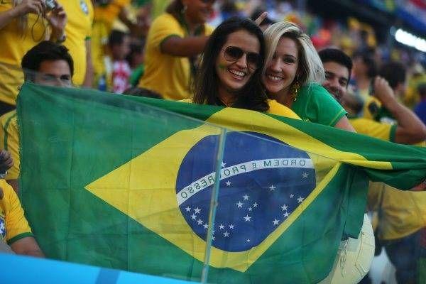 サッカー・ワールドカップ(W杯)ブラジル大会の開幕戦ブラジル-クロアチアを観戦する女性サポーター(サンパウロ)(2014年06月12日) 【EPA=時事】 ▼12Jun2014時事通信 ワールドカップ美女サポーター 写真特集 http://www.jiji.com/jc/wcup2014?d=d4_ftbnnp=wbs214-jpp017344272s=photolist #Brazil2014 #Brazil_Croatia_group_A