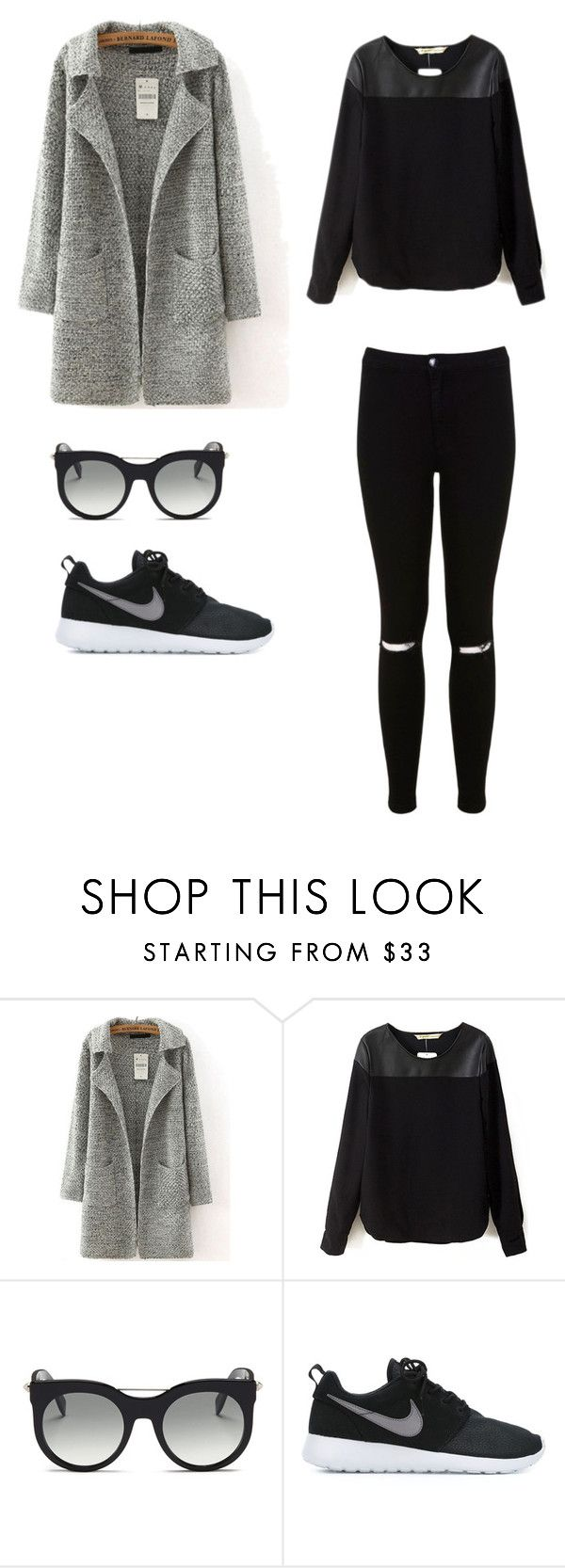 """""""Cinema with family (goosebumps)"""" by brooke-elliott-1 ❤ liked on Polyvore featuring Alexander McQueen, NIKE and Miss Selfridge"""
