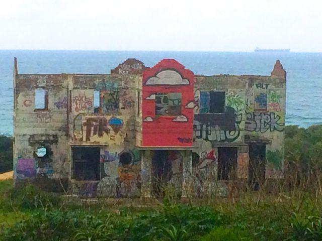 north coast of Kwazulu Natal abandoned graffitti house