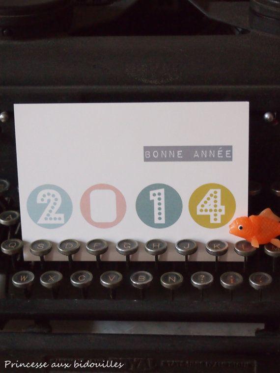 """Carte postale : """"Bonne année"""" 2014"""