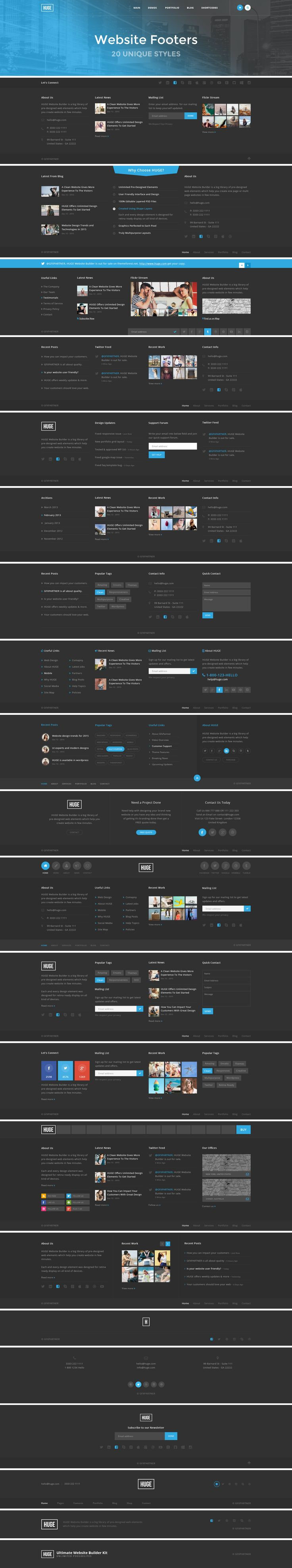 HUGE - PSD Website Builder