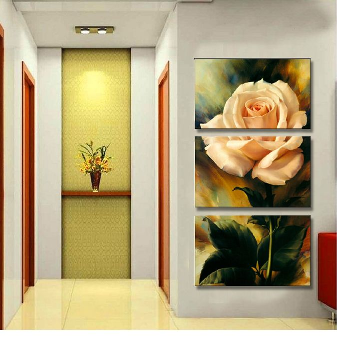 Find More Painting & Calligraphy Information about Free Shipping 3 Piece Hot Sell Modern Wall Painting Warm Feel rose pink  Home Decorative Art Picture Paint on Canvas Prints,High Quality Painting & Calligraphy from The global happy purchase on Aliexpress.com