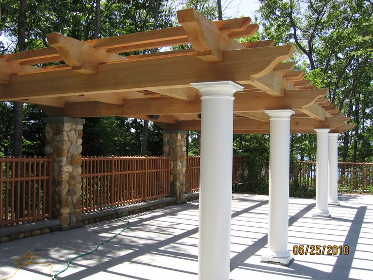 Imagine your family dining under this pergola built with our timbers.