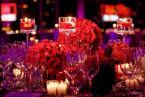 red rose centerpiece, wedding centerpiece