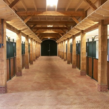 Inside barn! Heck yes! I wish!