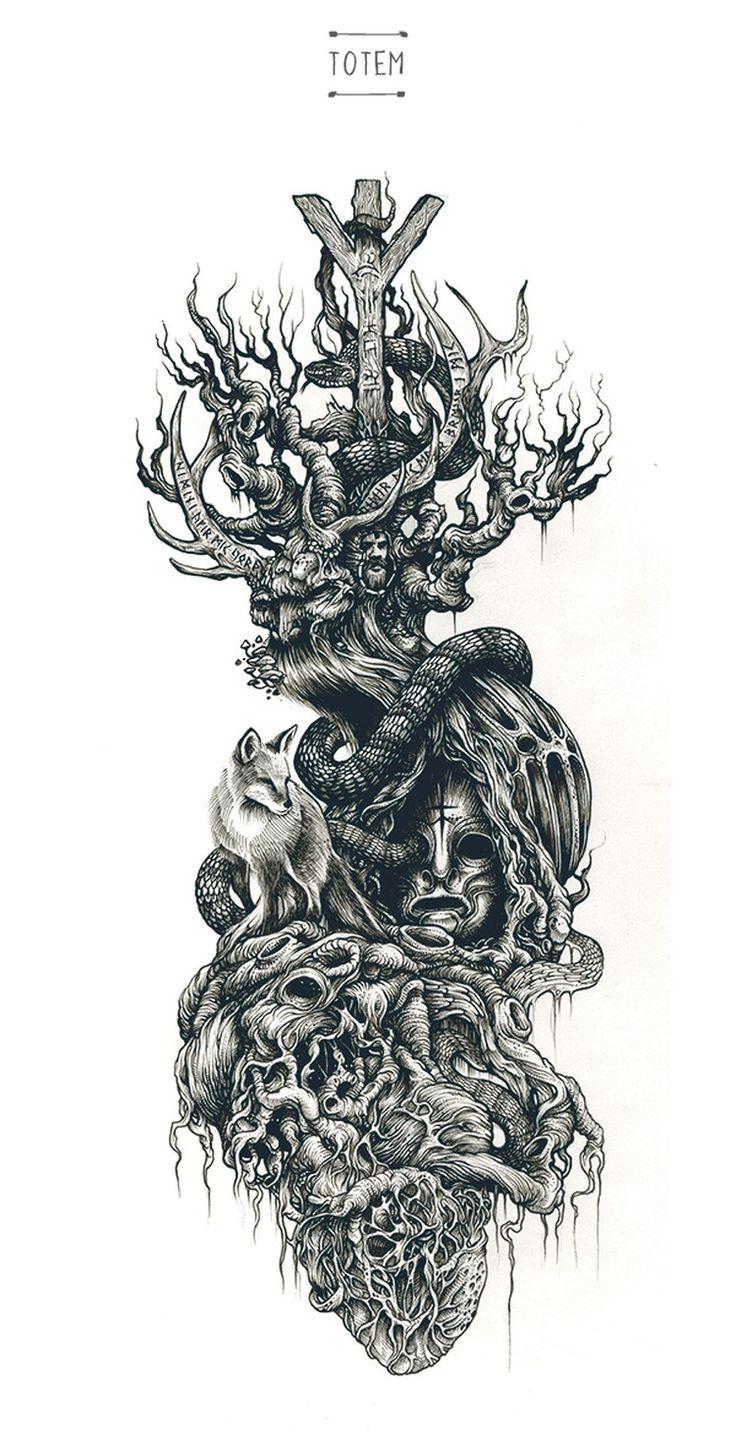 Un complejo entramado de talla brillante-Dibujos-de-DZO-Olivier