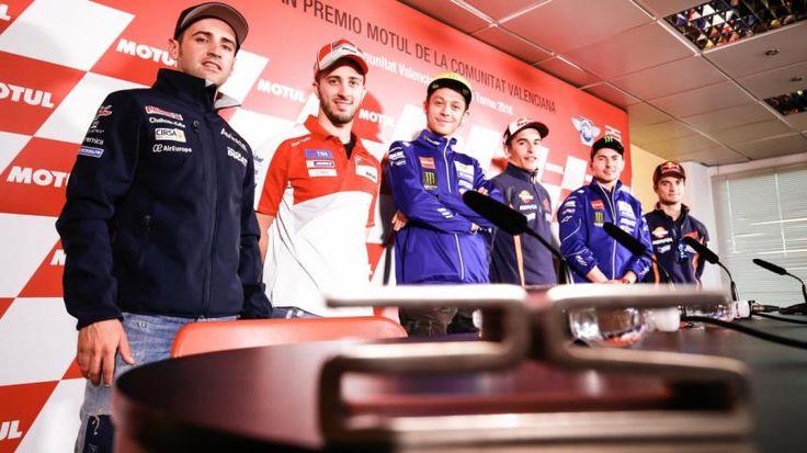 Gran Premio de la Comunitat Valenciana MotoGp: La rueda de prensa