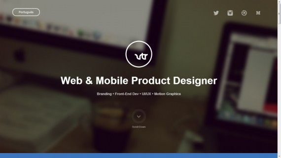 Website Portofolio Terbaik dengan Desain Keren - Vitor