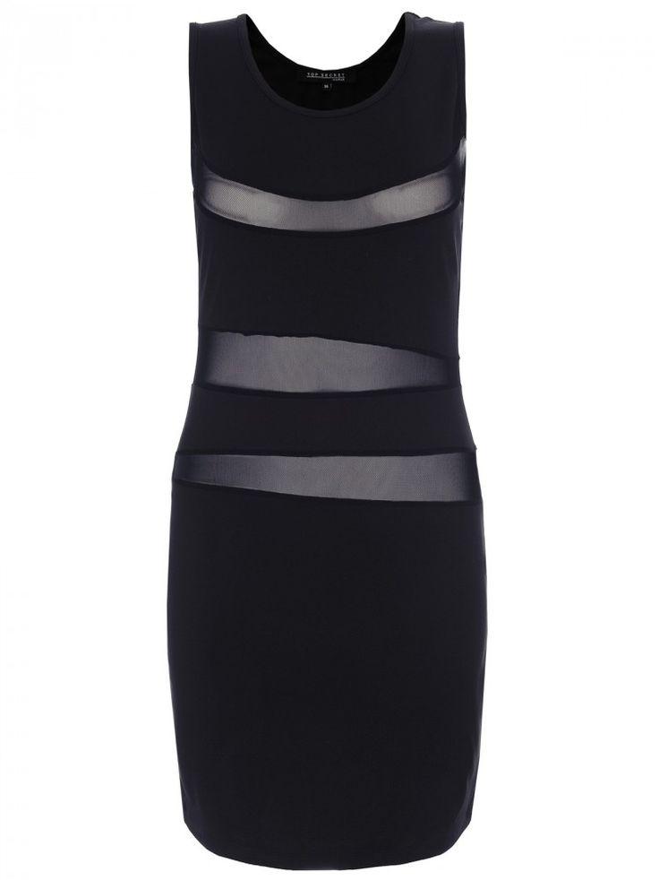 Άκρως sexy φόρεμα με διακεκομμένα διαφανές σημεία.  Χρώμα: μαύρο.