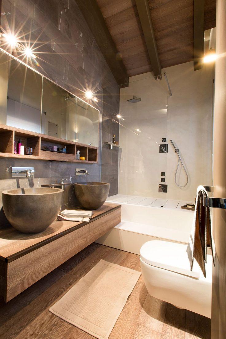 шале швейцария, загородный дом в стиле шале фото, Angelo Pozzoli, гостиная в…